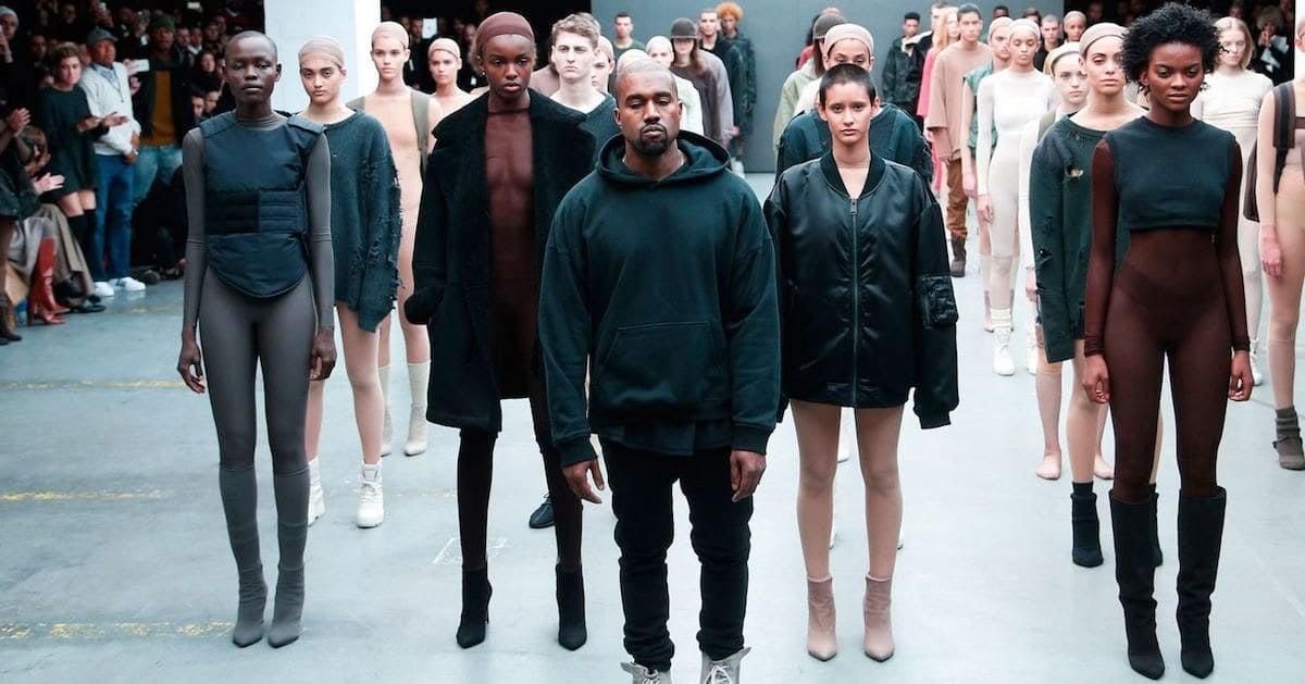 Adidas-defile Kanye West