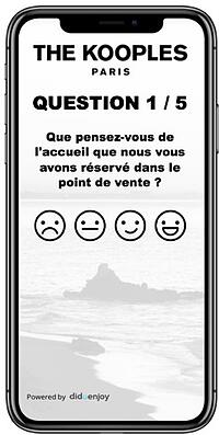 Questionnaire CSAT The Kooples iPhone X