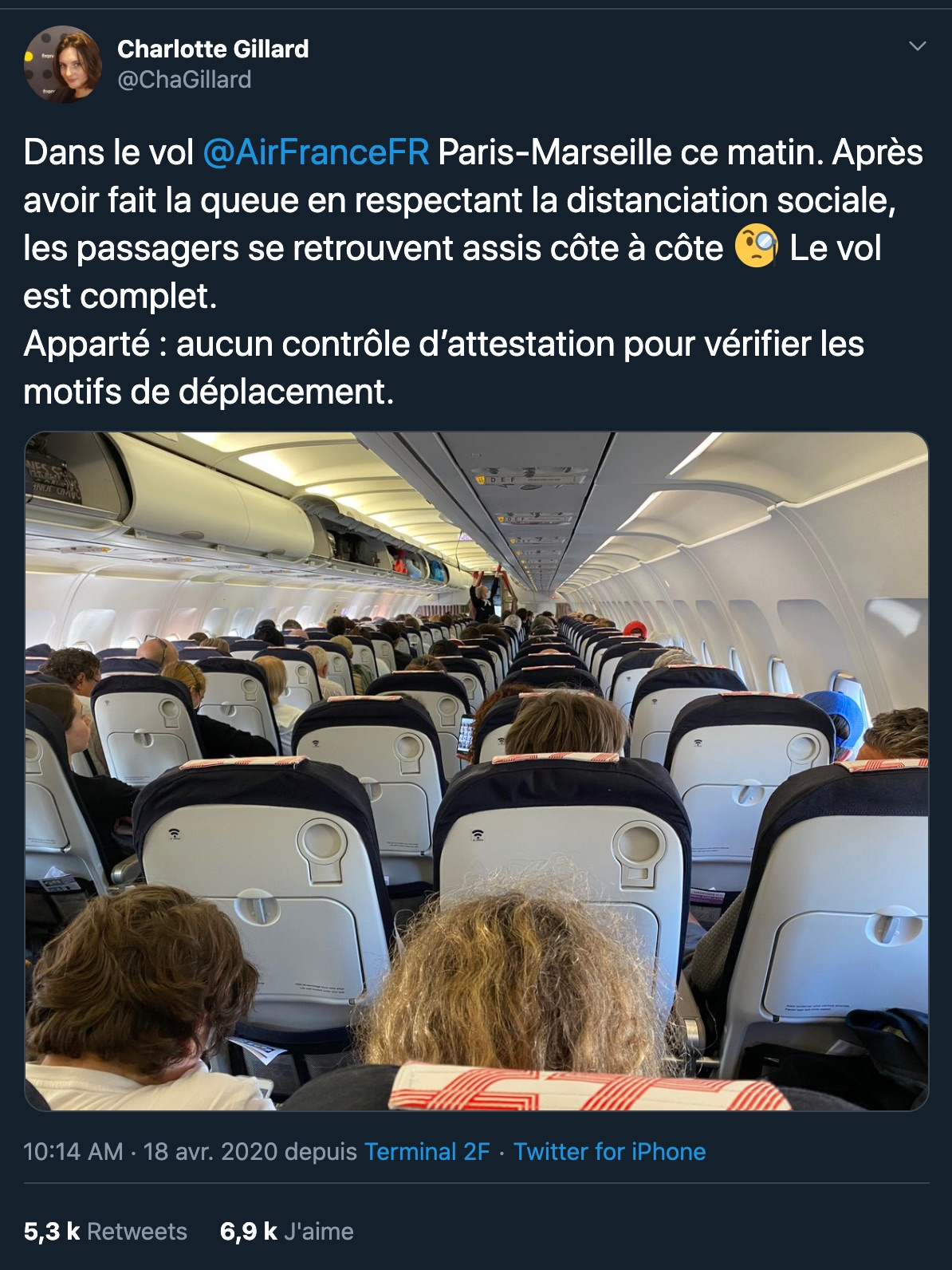 Paris Marseille Air France Twitter
